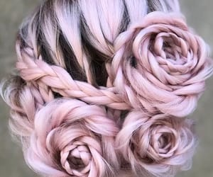 hair, pink, and rose image