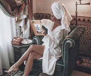 girl, book, and luxury image