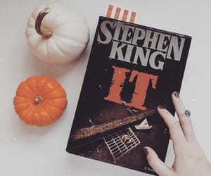 autumn, it, and Stephen King image