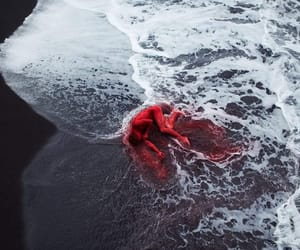 sea, red, and blood image