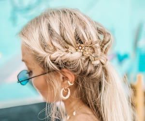 braid, hairdo, and hair image