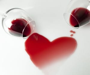 heart, wine, and drink image