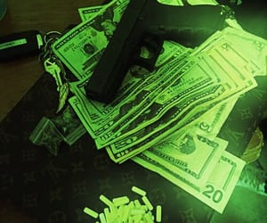 money, drugs, and green image