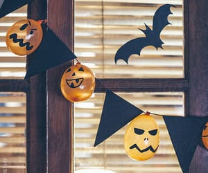 Halloween, pumpkin, and decoration image