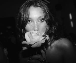 black and white, event, and bella hadid image