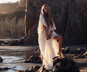beach, boho, and dress image