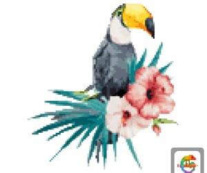 flowers, pixelart, and borabora image