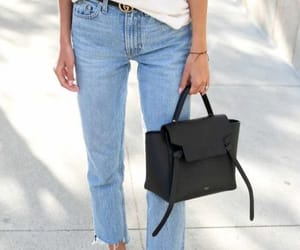 bags, jeans, and outfit image