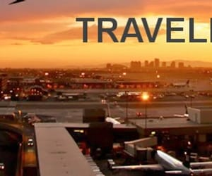 airport, los angeles, and tourism image