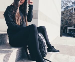 brand, girls, and black outfit image