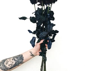 rose, black, and tattoo image