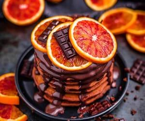 food, chocolate, and orange image