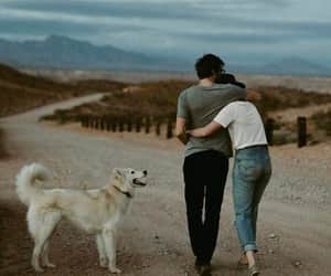 couples, dog, and emotions image