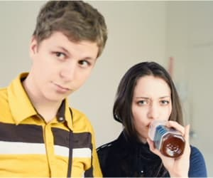 Kat Dennings and michael cera image