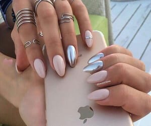 nails, manicure, and iphone image