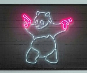 neon, neon pink, and pink image