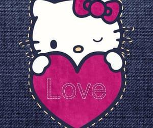 heart, hello kitty, and kitty image