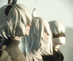 2b, video game, and 9s image