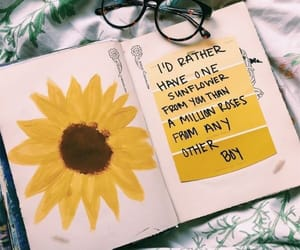 quotes, journaling, and sunflower image