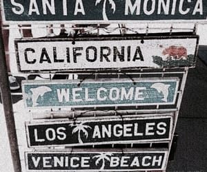 california, beach, and los angeles image