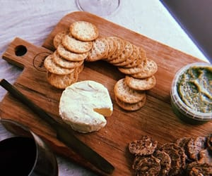 cheese, crackers, and finger food image