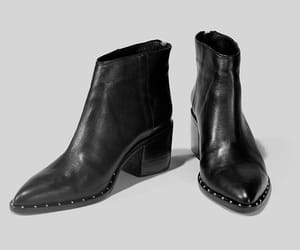 black, black boots, and black shoes image