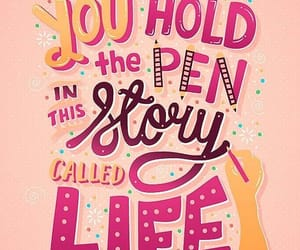 frase, lettering, and pink image