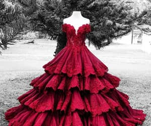 dress and crimson red image