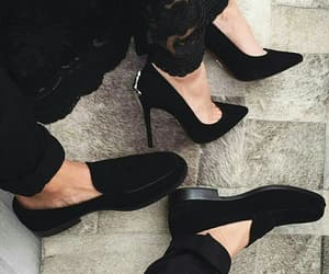 black, shoes, and couple image
