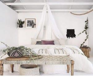 bedroom, boho, and decor image