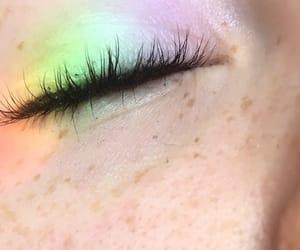 eye, eyelashes, and freckles image