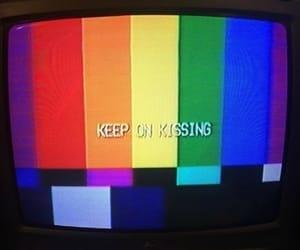 tv, kiss, and lgbt image