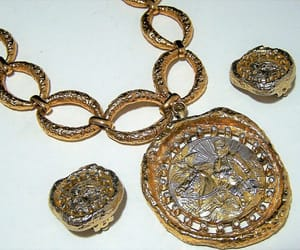 etsy, statement necklace, and vintage jewelry set image