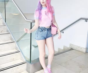 aesthetic, pink, and shorts image