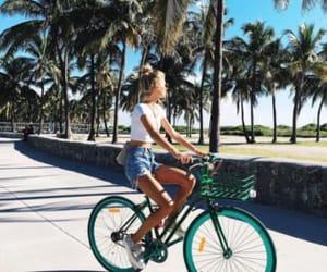 summer, beach, and bike image