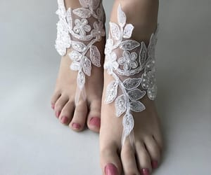 bridal shoes, foot jewelry, and etsy image