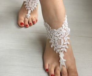 etsy, anklet, and barefoot sandals image