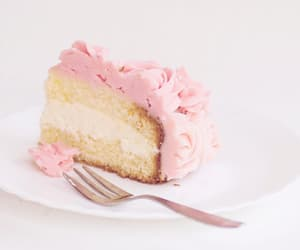 cake, pink, and sweets image