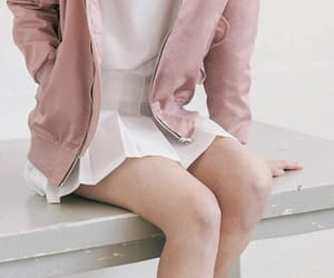 skirt, white, and pink image