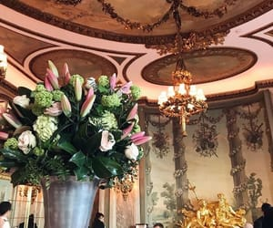 flowers and restaurant image