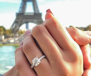 love, diamond, and proposal image