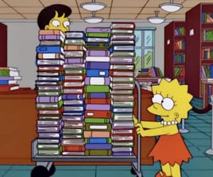 book, lisa, and lisa simpson image