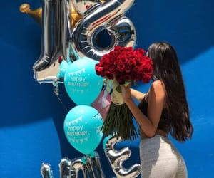 aesthetic, balloons, and birthday image
