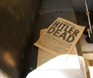 hitler, vintage, and newspaper image
