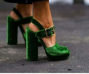 modern, velvet shoes, and shoes image