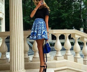 blonde, style, and blue image