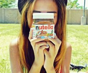 girl, hipster, and nutella image