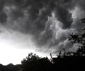 black, black and white, and cloud image