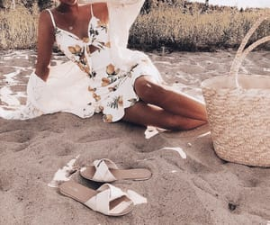 beach, clothes, and dress image