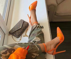green, orange and green, and louboutin image
